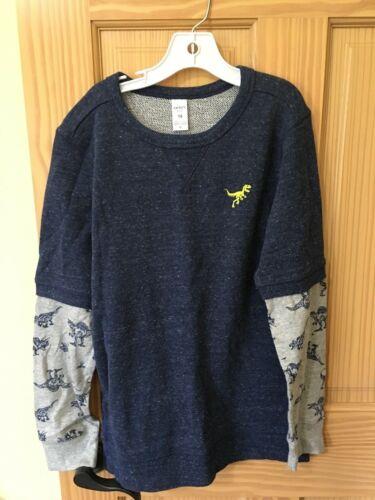 NEW Carter/'s Boys Dinosaur Sweatshirt Pullover Jacket Navy Blue