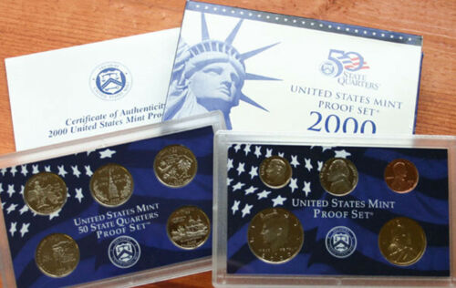 1999 to 2009 S 11 Years Annual US Mint PROOF Set Collection 127 Coins COA /& Box