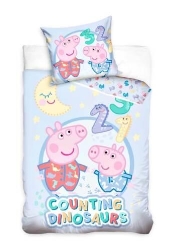 Peppa Pig Wutz Baby Bettwäsche Kinderbettwäsche Wendebettwäsche Bettzeug 100x135