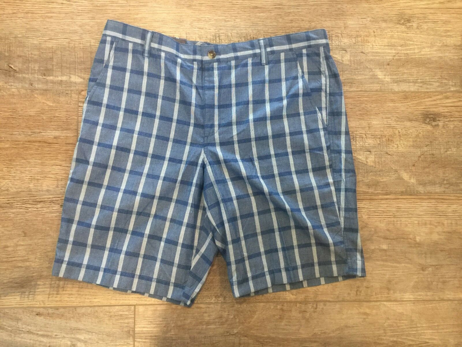 NWT CHAPS bluee Plaid Bermuda Shorts Size 38 X 10