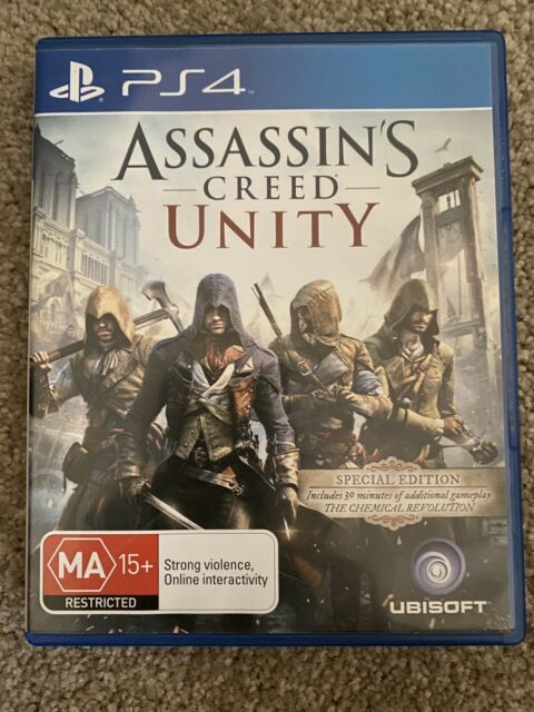Assassins Creed Unity PS4 Playstation 4 Like New - Stealth Action Game
