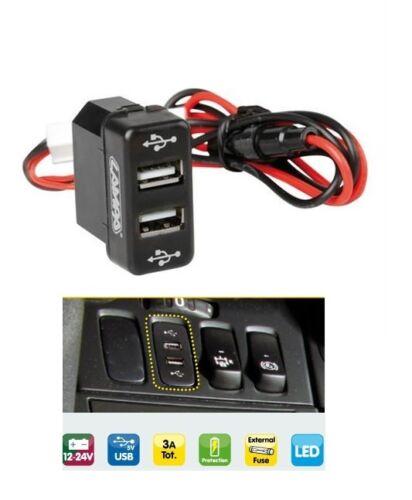 24v Armaturenbrett Dual USB Port Einsatz Ladegerät Stecker Led für Man TGA Tgs