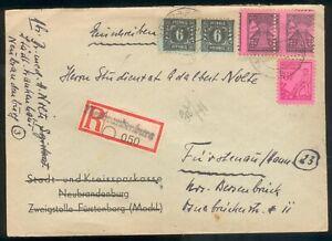 Mecklenburg-Vorpommern-R-Brief-mit-Mi-Nr-8x-11xa-16-PLF-IX-XXXV