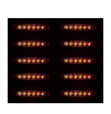 10X24V LED FEUX DE GABARIT LATERAUX ORANGE POUR CAMION CARAVANE SHASSIS REMORQUE