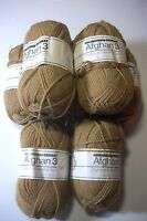 Bernat Afghan 3 Afghan & Sweater Yarn 3 Ply Sport Wt 13 Camel Lot/7