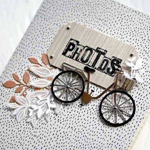 Fahrrad Metall Stencil Cutting Dies Scrapbooking Stanzschablone Album Karte DIY