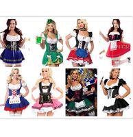 OKTOBERFEST Beer Costume Bavarian German Heidi Dirdnl Leiderhosen Maid PLUS SIZE