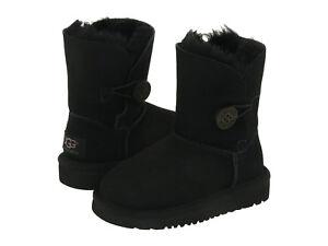 new toddler infants ugg boot bailey button ii black water resistant rh ebay com