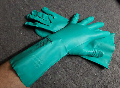 BRITISH ARMY SURPLUS VENTITEX NITREX 802 NITRILE PROTECTIVE RUBBER GLOVE,CE.0120