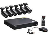 Q-See QTH83-6CN 8-Ch. Full HD 1080p Security System with 6 AHD 1080p Day/Night Bullet Cameras - Black
