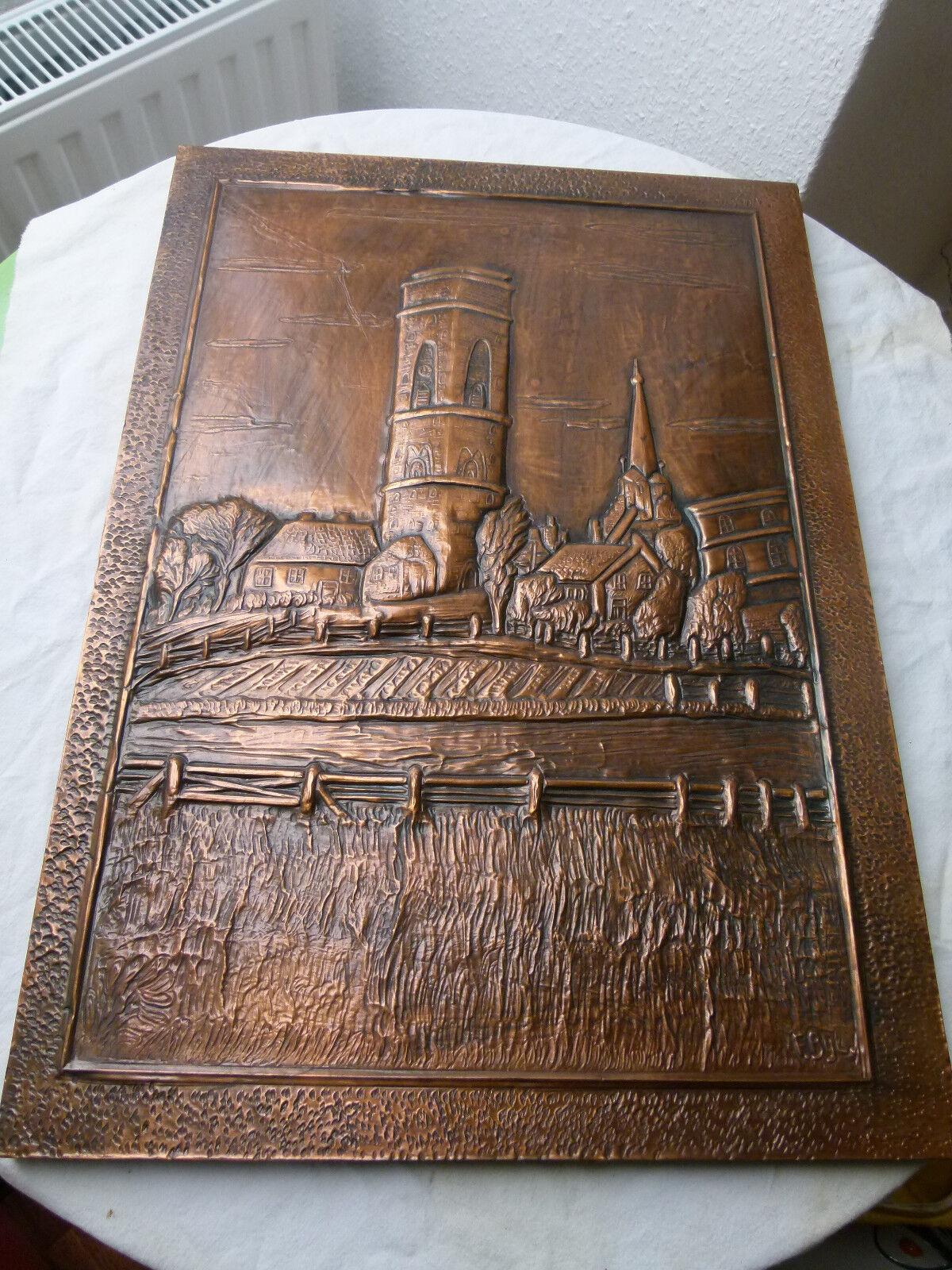 Kupferbild Borkum-Motiv, Alter Leuchtturm, ca. 40 x 56 cm