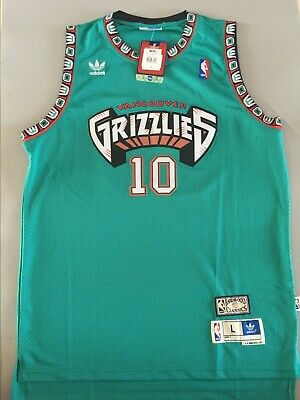 S-XXL NEW Vancouver Grizzlies #10 Mike Bibby Green Basketball Jersey Size
