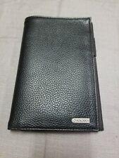 Rolodex Card Case Storage Leather 36 Card Holder 5 X 7 12 Black New