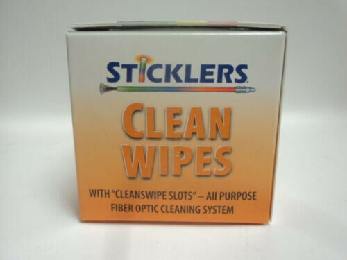 Sticklers MCC-WCS100 Fiber Optic Cleaning Tool Lint Free 100 Wipes