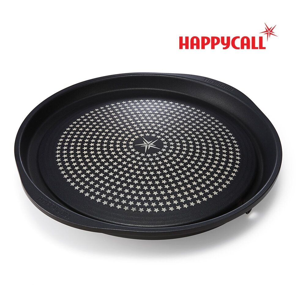 HAPPYCALL Diamond Coated Hot Plate Oil Draining Grill Round Square BBQ Griddle