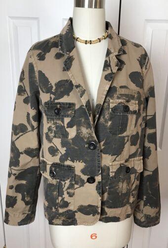 Nwt coton entièrement Blazer camouflage Sz 118 100 J Veste M doublée fq8Xfrawn