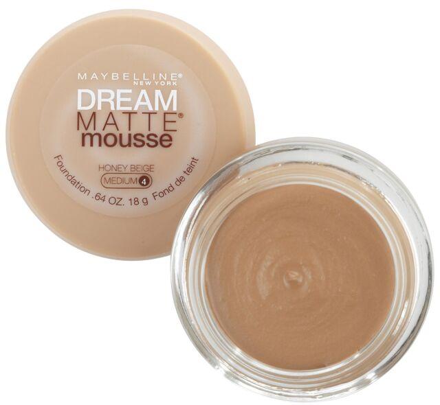 1 X Maybelline Dream Matte Mousse Foundation ❤ Medium 4 Honey Beige ❤ GLOSSI