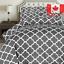Utopia-Bedding-3-Piece-Printed-Duvet-Cover-Set-with-2-Pillow-Shams-Queen-Grey miniature 1