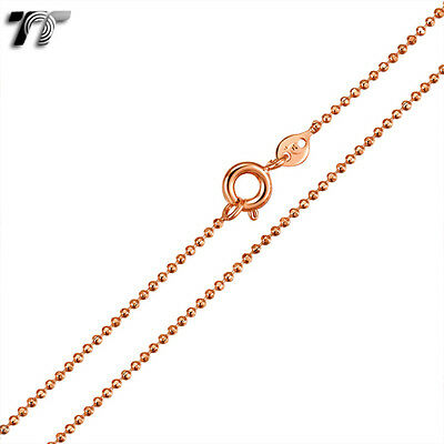 TTstyle 1.5mm Gold Filled Thin Bead Chain Necklace NEW