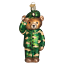 thumbnail 1 - Old World Christmas ARMY BEAR (12402)N Patriotic Glass Ornament w/Owc Box