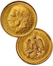 Random Date Mexico 2-1/2 (2.5) Pesos Gold Coin - .0603 Troy Oz AGW SKU28438