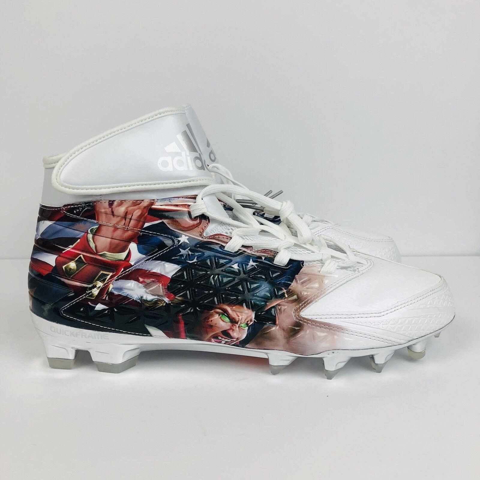c2366006c Adidas Freak X Carbon High Uncaged Patriot Football Cleats White SZ AQ7826