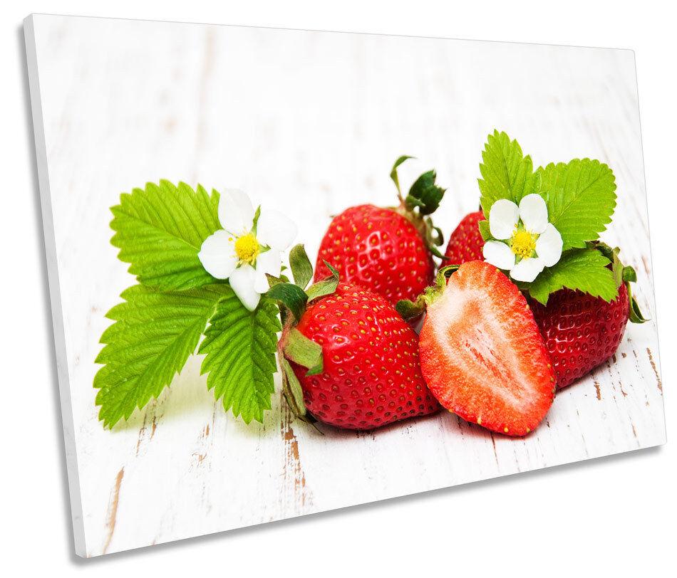 Cocina de fruta fresca de de de fresa solo LONA parojo arte Foto impresión 20c64c