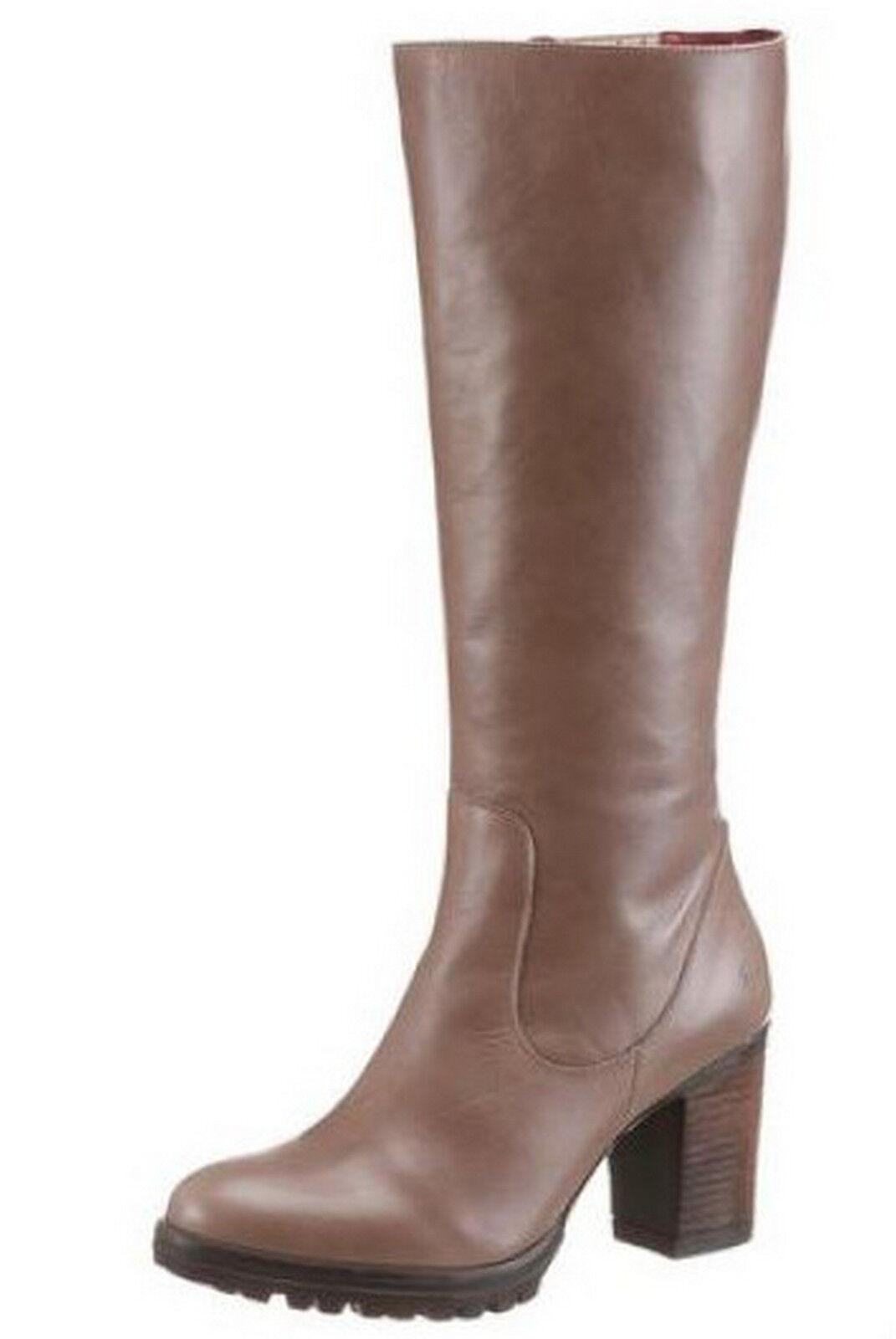 JJ Footwear botas 36 40 41, cuero genuino de vario marrón Taupe señora botas nuevo