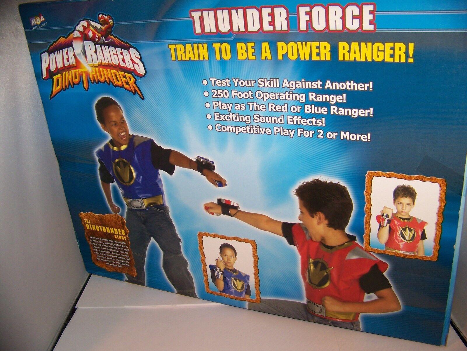 Power Rangers Dino Thunder Roleplay Set Thunder Force ROT Ranger Blau Ranger