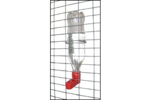 Solway 2 Red Bottle Holder Cage Cup Drinker Fits  Soda Bottles Up To 1.6 ltr.
