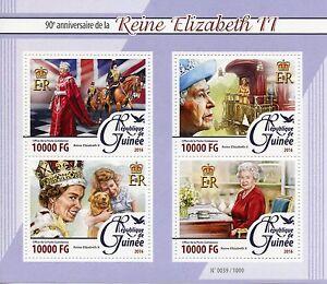 Guinea 2016 MNH Queen Elizabeth II 90th Birthday Anniv 4v M/S Royalty Stamps