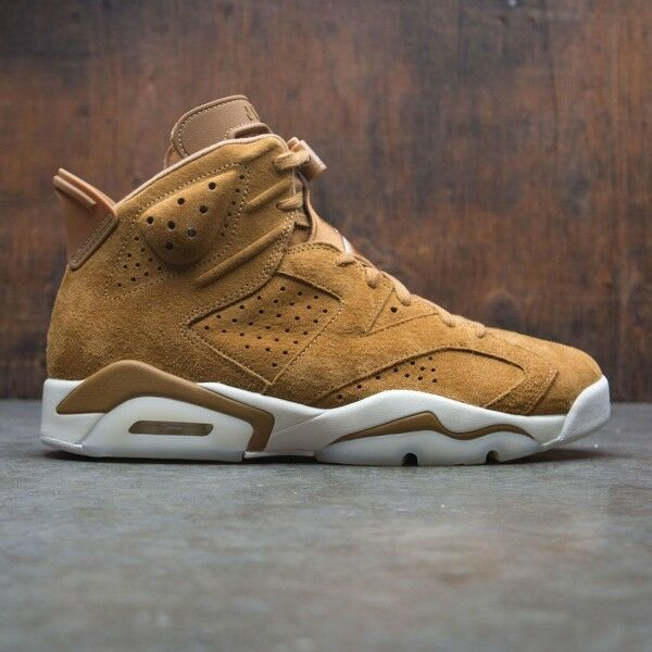 2017 Nike Air Jordan 6 VI Retro Golden Harvest Wheat Size 11.5. 384664-705 1 2 3