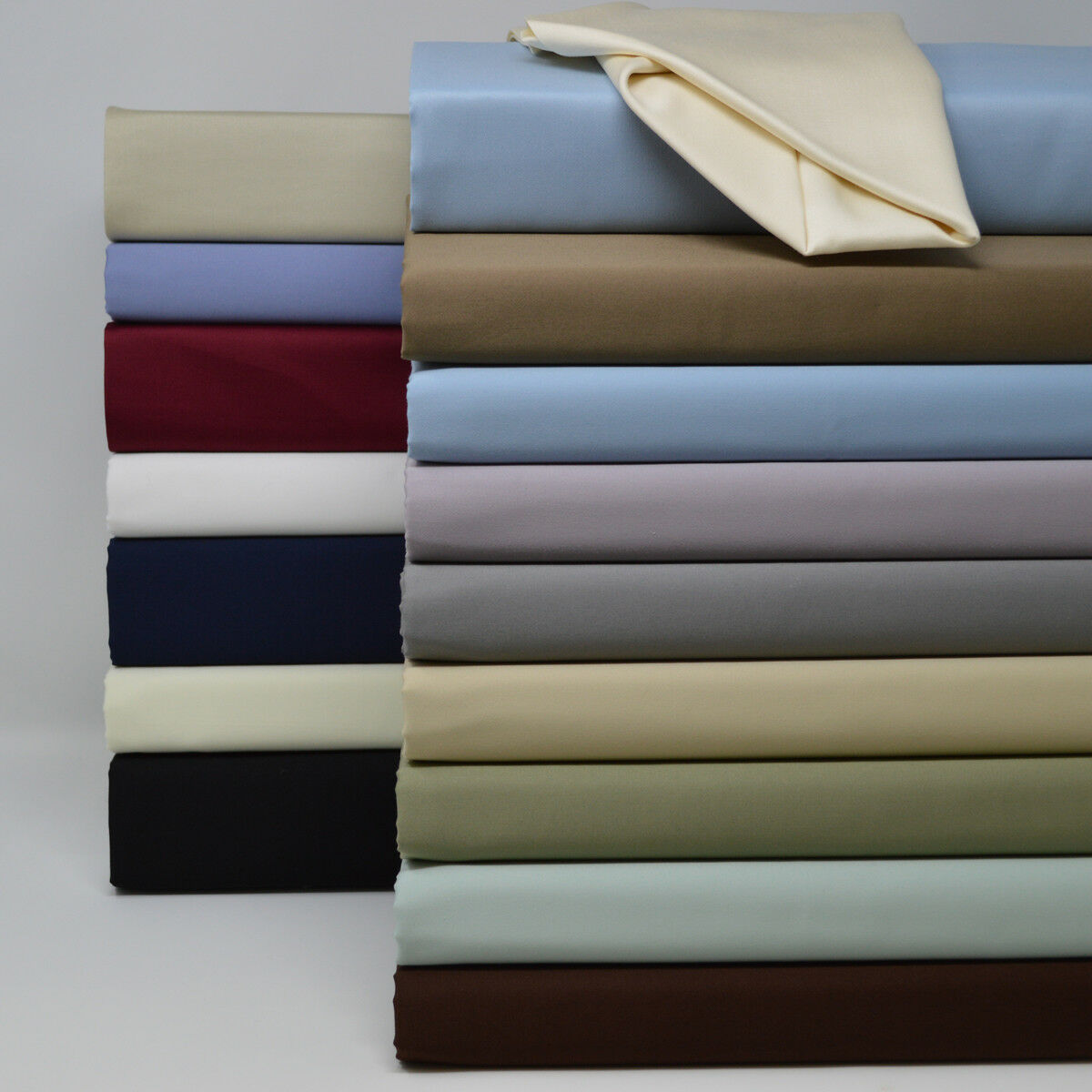 Split Top California King Fitted Solid Sheet 100% Cotton 600 Thread Count Sheets