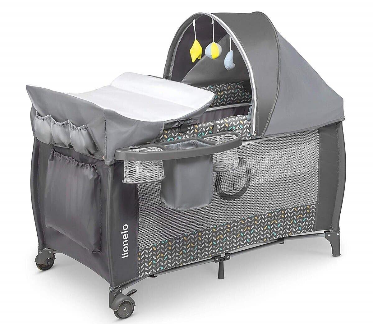 Mobile Black BabyGo Reisebett Sleeper Deluxe inkl Wickeltisch