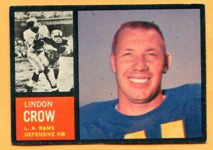 1962-Topps-Football-87-Lindon-Crow-EX-Lot-701-Los-Angeles-Rams