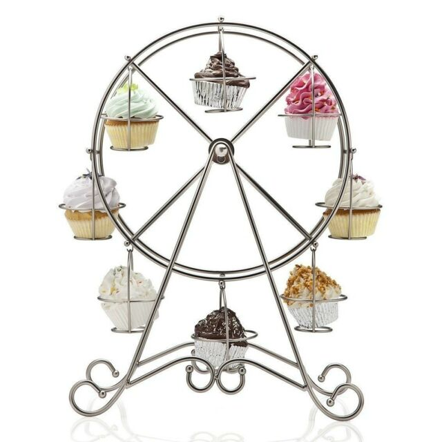 Lot of 6 pieces FERRIS WHEEL CUPCAKE HOLDER HOLDS 8 CUPCAKES