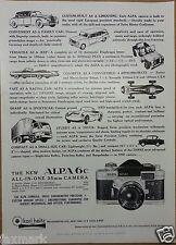 "U.S. Camera Magazine Ad (Dec. 1960) The ""New"" ALPA 6c 35mm Camera"