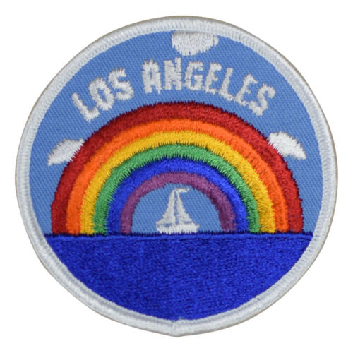 Sailing and Rainbow Los Angeles California Patch Iron on
