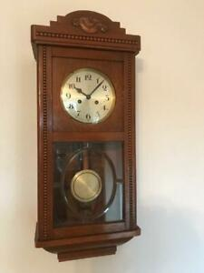 Details zu Regus Uhr Wanduhr Schwarzwalduhr Schwarzwald Holz Antiquität antik