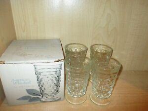 American-Whitehall-4pc-14oz-Cooler-Glass-Tumblers-Set-w-Box-Vintage