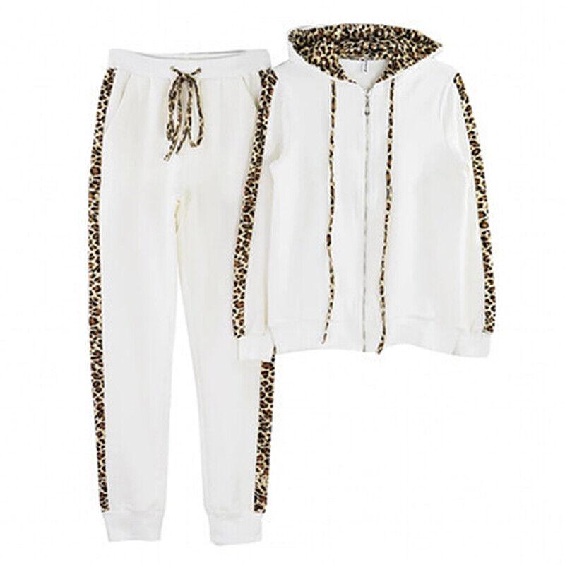 2Pcs Donna tuta sportiva Felpe con cappuccio Pantaloni Lounge Wear Sport Casual 11