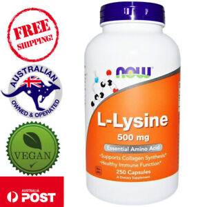 Now Foods L-Lysine 500 mg 250 Vegan Tablets Non-GMO Dietary Supplement