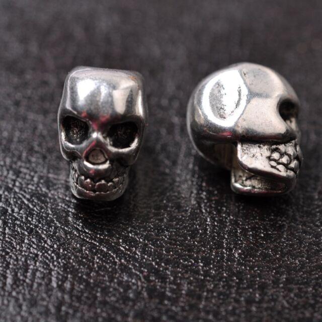10pcs wholesa tibetan silver skull Spacer Beads For Jewellry 12MM SH810