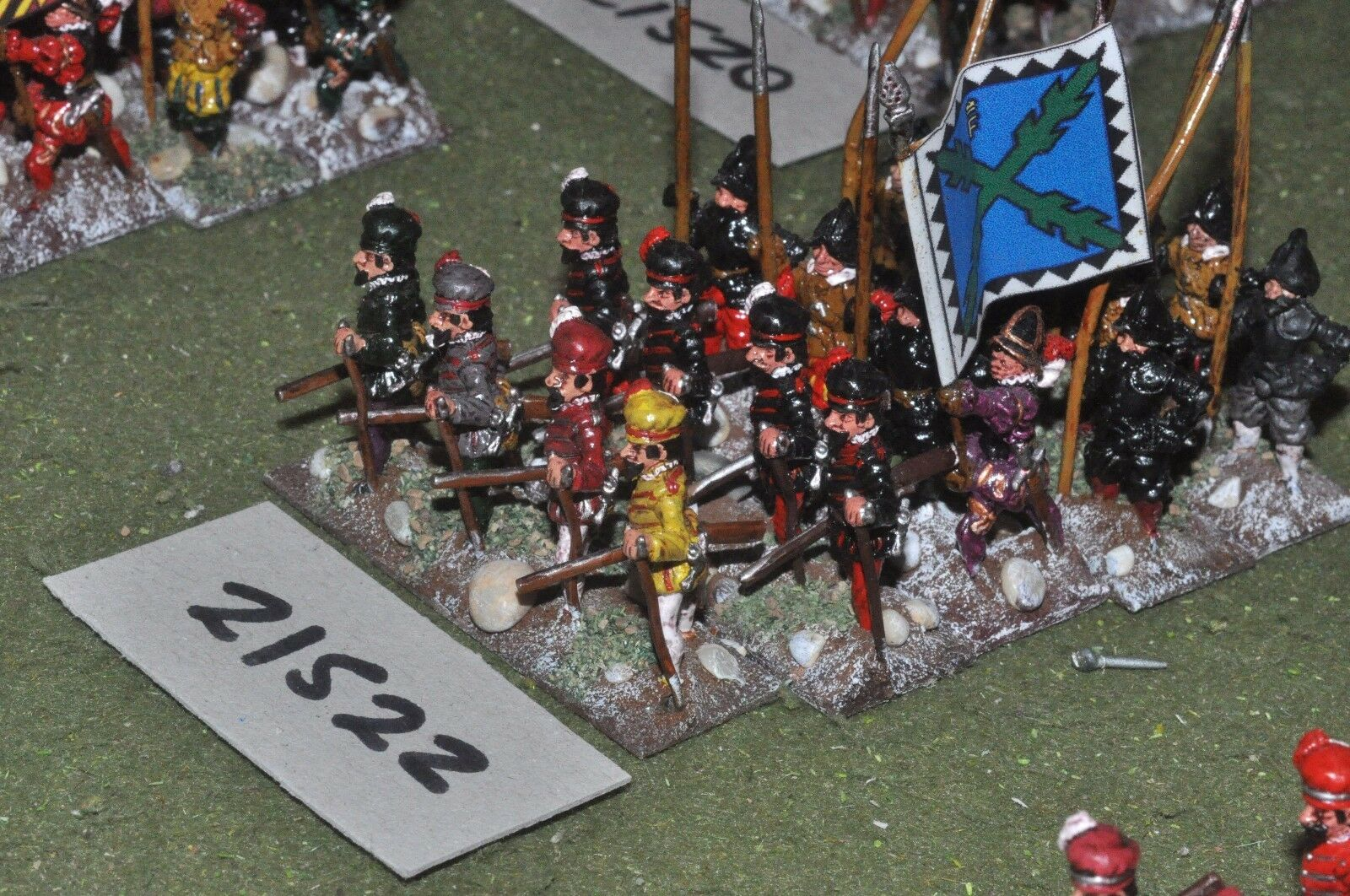 25mm renaissance   imperialist - 20 pike & shot infantry - inf (21522)