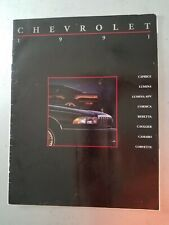 Camaro Caprice Corvette Beretta 1991 Chevrolet 20-page Car Sales Brochure