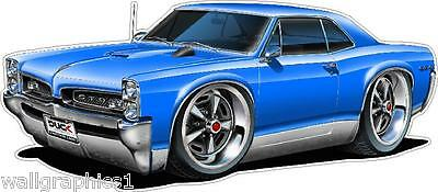 Madd Dog1964 Pontiac GTO 389 Wall Graphic Poster Decal Man Cave Boys Room Cling