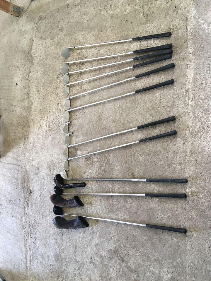 Herre golfsæt, venstrehånds, stål