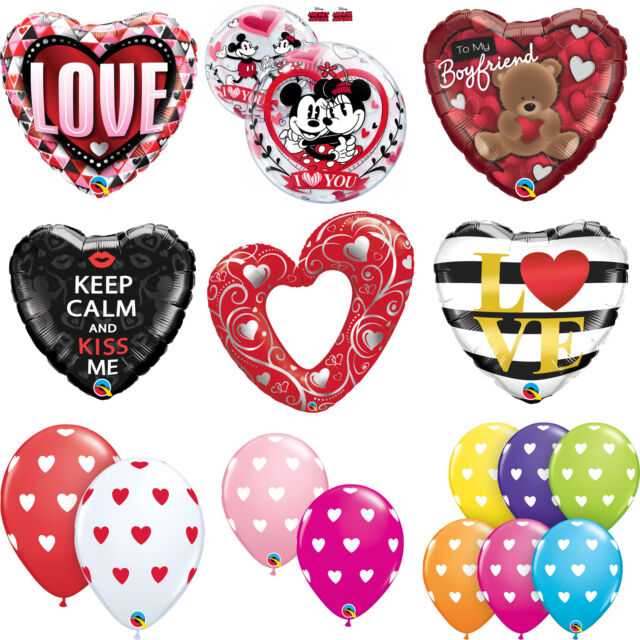 VALENTINES DAY - LOVE THEMED Foil & Latex Balloons - (Qualatex) Gift/Present