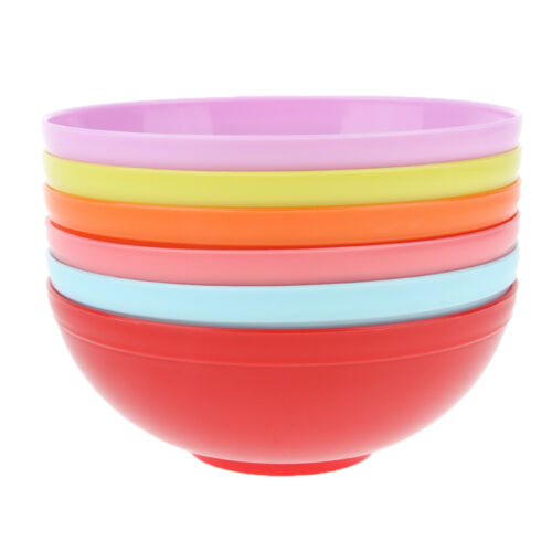 6pcs Kids Serving Bowls Plastic Picnic Camping Outdoor Lunch Tableware Set