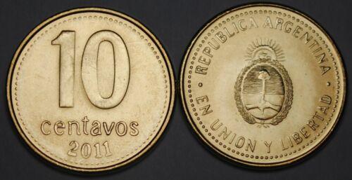 2011 Argentina 10 Centavos Coin BU Very Nice  KM# 107a